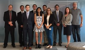The Financial Math REU team with advisors and sponsors at State Street
