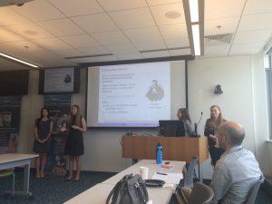 REU students present to the lab of Dr. Gavin Fay at UMass Dartmouth